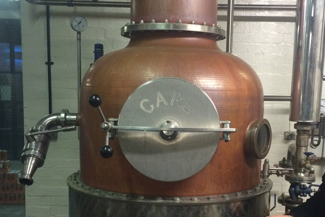 One of the stills at Chase Distillers, The Old Stocks Inn, Cotswolds