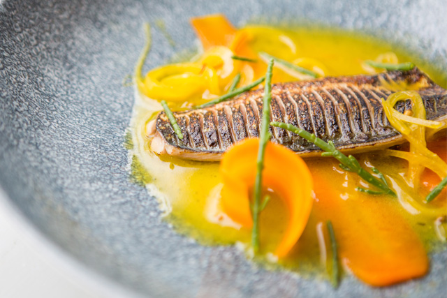 Autumn menu dishes at The Old Stocks Inn, Cotswolds