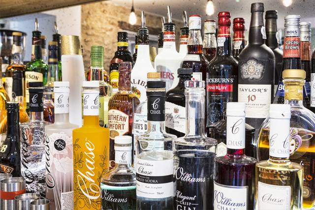 Chase Distillery spirits and more at The Old Stocks Inn, Cotswolds