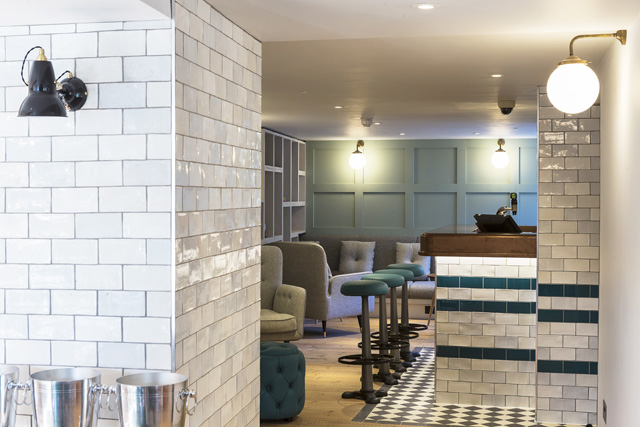 Newly refurbished bar at The Old Stocks Inn, Cotswolds