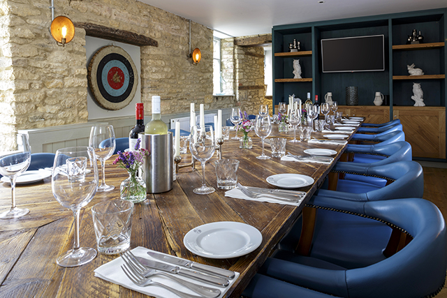 Private dining at The Old Stocks Inn, Cotswolds