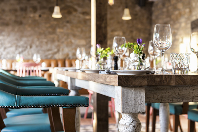 Child-friendly restaurant, The Old Stocks Inn, Cotswolds