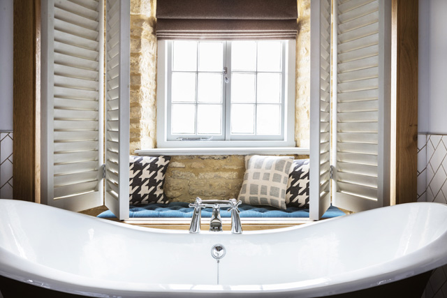 Boutique Cotswold hotel rooms, The Old Stocks Inn, Stow